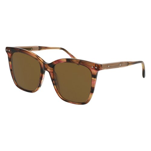 Sunglasses Bottega Veneta BV 0097 S- 002 AVANA / BROWN - Sunglasses Bottega Veneta