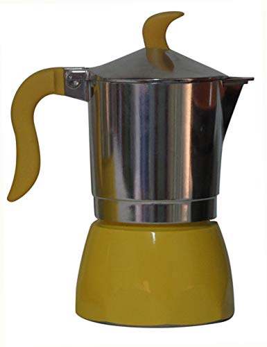 Bialetti:''Fiammetta'' Colours 3-Cups Yellow, New Ergonomic Shape for Handle and Knob [ Italian Import ] by Bialetti (Image #1)