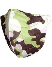Máscaras KN95 Camuflada verde, marrom e rosa Infantil - Kit de 10, 20, 30, 40, 50, 100 Unidades - FPP2 PFF2 - Filtragem > 95% - Embaladas de 1 em 1 - SOS Mascaras - FBA