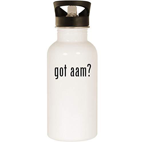 got aam? - Stainless Steel 20oz Road Ready Water Bottle, White