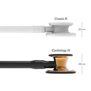 3M Littmann Cardiology IV Stethoscope Limited Edition, High Polish, Copper Chestpiece, 6180, Black Tube, 27 inch (Color: Black Tube)
