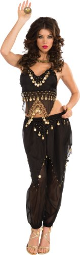 Rubie's Costume Deluxe Embellished Belly Dancer, Black, Small Costume
