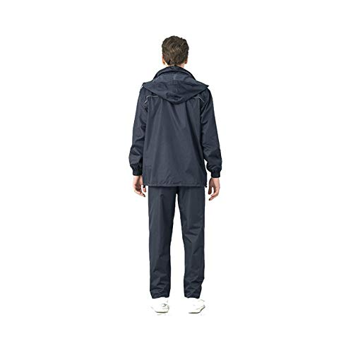 Marine XL WSWJJXB Ensemble imperméable Domestique Double Couche imperméable Pantalon imperméable imperméable Adulte imperméable imperméable réutilisable pour Parcs d'attractions, Camping, randonnée