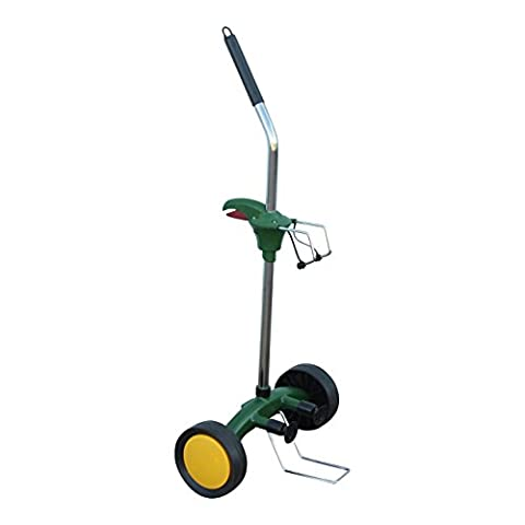 Potted Plant Mover Dolly to Carry Heavy Pots with Flat Free Wheels (Large Flat Planter)