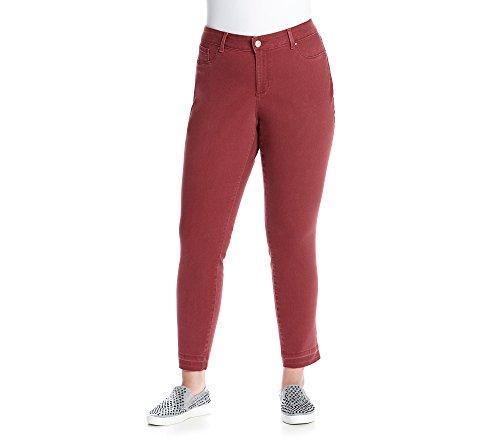 Jessica Simpson Women's Plus-Size 'The Kiss' Me Super Skinny Pant, Chocolate Truffle, 20