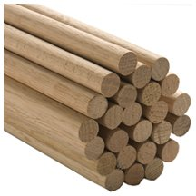 100 Pcs, 3/4'' X 36'' Oak Wood Dowels Mix Of Red And White Oak Dowel Color May Vary by SNS