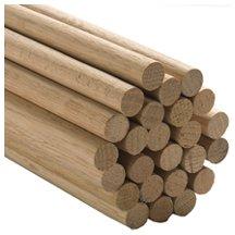"""5 Pcs, 3/4"""" X 36"""" Oak Wood Dowels Mix Of Red And"""