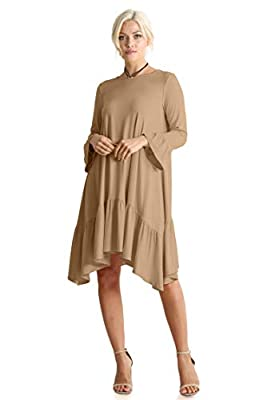 Long Sleeve and Sleeveless High Low Dresses for Women Regular and Plus Size - Made in USA