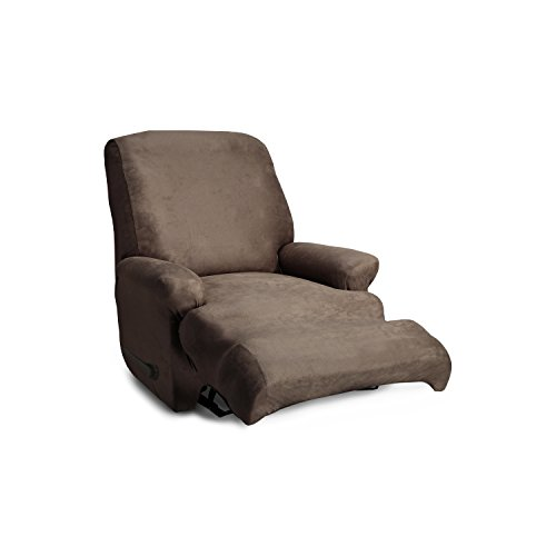 CoverWorks AUSTREC4TOBA1 Stretch Leather Stretch Recliner Slipcover, Biscuit by CoverWorks