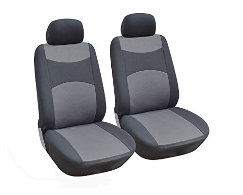 OPT. Brand. Grey Color Fabric Cloth 2 Front Car Seat Covers Fit Audi A3 A4 A6 A7 A8 allroad Q5 Q3 Q7 SQ5 Quattro ()