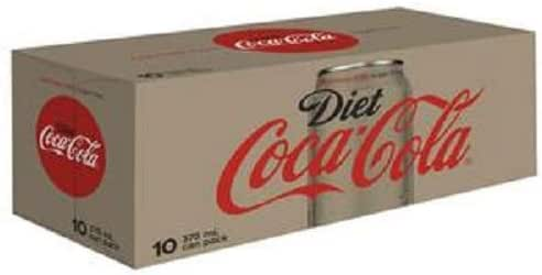 Diet Coca-Cola Caffeine Free Soft Drink, Multipack Cans, 10 x 375 ml (packaging may vary)