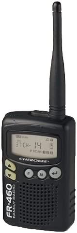 Cherokee FR-460 2-Mile 14-Channel FRS Two-Way Radio Black