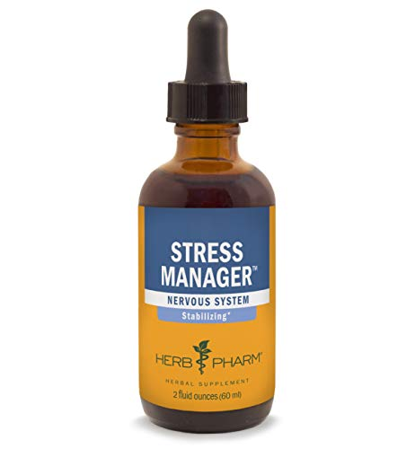 Herb Pharm Stress Manager Liquid Herbal Formula with Rhodiola and Holy Basil Liquid Extracts – 2 Ounce