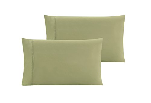QUEEN size Solid SAGE GREEN Pillow Cases 1500 Thread Count Egyptian Quality 2 piece set, Silky Soft & Wrinkle Free