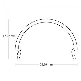 pn7 pauw F. - Perfil de aluminio tira LED 2 m + Protectora Opal aluminio perfil C1/2/3/4 + tapas, PN7 C4 Abdeckung, 2G10: Amazon.es: Iluminación