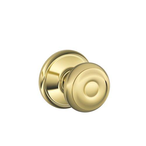 (Schlage F10VGEO605, Bright Brass Georgian Passage Knob,)