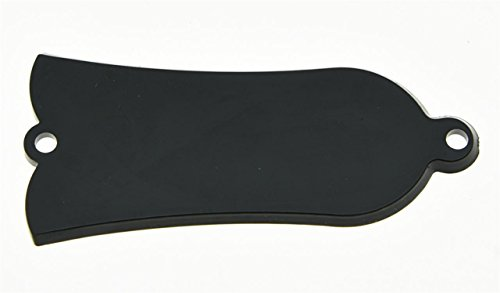 KAISH Black 1 Ply Blank Guitar Truss Rod Cover 2 Hole Fits Gibson Style Les Paul LP