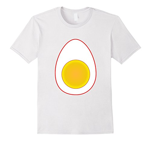 Mens Funny Deviled Egg Halloween T-Shirt Last Minute Costume Tee Small White - Last Minute Funny Halloween Costume Ideas For Men