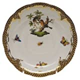 Herend Rothschild Bird Brown Tea Saucer Motif #10