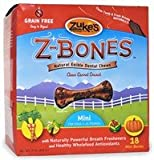 Zuke's Z-Bones Natural Edible Clean Carrot Crunch Mini Dog Dental Chews(18 Pack), My Pet Supplies