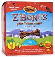 Zuke's Z-Bones Natural Edible Clean Carrot Crunch Mini Dog Dental Chews(18 Pack), My Pet Supplies