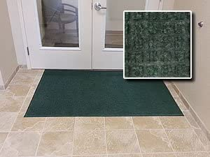 Heavy Duty Entrance Door Mat – FloorGuard – 3 x 5 – Green – Residential or Commercial Walk Off Entry Mat