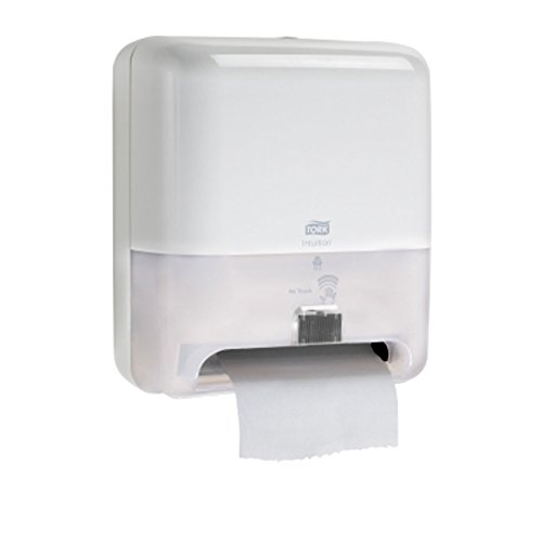 Tork 5511202 Elevation Intuition Battery-Operated Roll Towel Dispenser, White