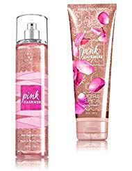 (Bath & Body Works ~ Signature Collection ~ Pink Cashmere ~ Winter 2016 ~ Gift Set ~ Fine Fragrance Mist & Ultra Shea Body Cream)