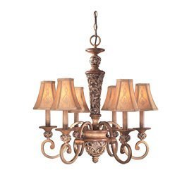 Minka Lavery 1556-477, Salon Grand, 6 Light Chandelier, Florence Patina