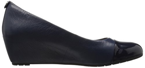 Clarks Womens Vendra Dune Wedge Pump Navy Combi