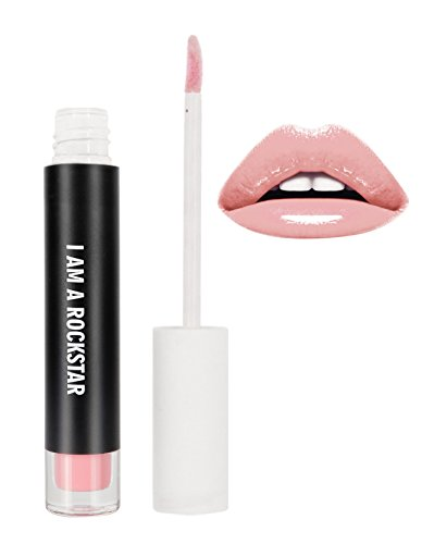 RealHer Lip Plumping Gloss I Am A Rockstar- Neutral Pink Shiny Finish, Fuller Lip Volume! No Pain Formula, VEGAN, Cruelty Free by RealHer
