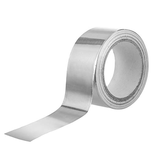 Vasdoo Professional Grade Aluminum Foil Tape/Aluminum Tape -4.2 Mil (2 Inch x 65 Feet) - Perfect for HVAC, Sealing & Patching Hot & Cold Air Ducts, Metal - Foil Mil Aluminum