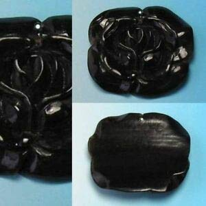 Flora! Carved Horn Rose Flower Pendant Bead 10078 Spacer Beads and Roll Crystal String for Bracelets Jewelry Making