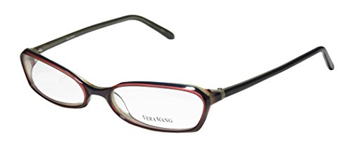 Vera Wang V104 Womens/Ladies Designer Full-rim Eyeglasses/Eyewear (53-17-135, Purple / Plum)