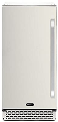 Whynter BOR-326FS Indoor-Outdoor Beverage Refrigerator, 3.2 cu. ft., Stainless Steel/Black