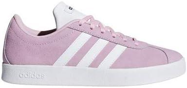 adidas VL Court 2.0 Shoe - Kid's Casual True Pink/White/Core Black