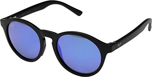 Maui Jim Pineapple B784-2M | Polarized Matte Black Classic Frame Sunglasses, Blue Hawaii Lenses, with Patented PolarizedPlus2 Lens ()