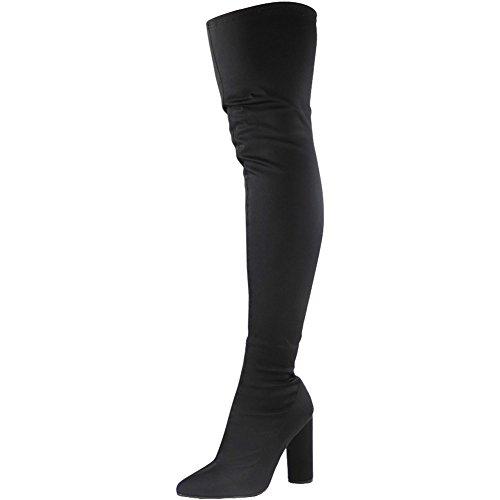 Loud Look - Botas altura por encima de la rodilla mujer negro