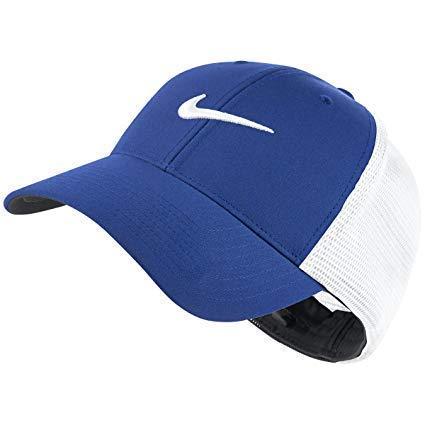 Nike Unisex Legacy 91 Golf Tour Mesh Cap Hat, Game Royal/White/White Swoosh, Large/X-Large