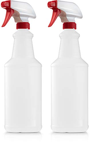 - Empty Plastic Spray Bottle 32 Ounce, All Purpose, Cleaning and Chemical Solution, Adjustable Head Sprayer from Fine to Stream (Pack of 2)