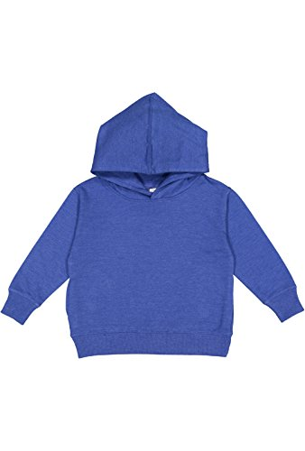 Rabbit Skins Toddler Fleece Long Sleeve Hooded Pullover Sweatshirt (Vintage Royal, 4 (3326 Rabbit)