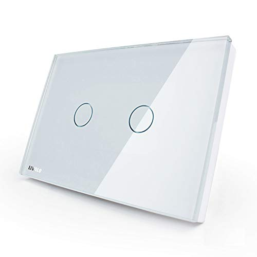 LIVOLO White US/AU Standard 2 Gang 1 Way Dimmer Touch Switch