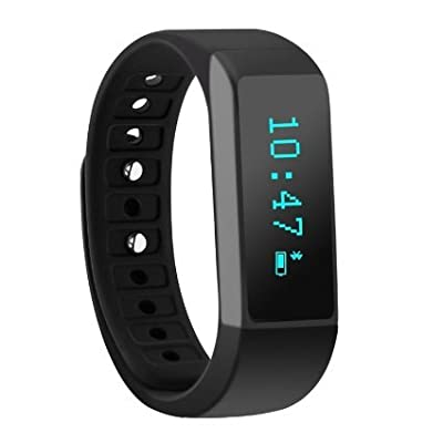 Teslasz® I5 Plus Oled Smart Bracelet fitness tracker sport wrist Bluetooth 4.0 Pedometer Tracking Calorie Health Sleep Monitor Wristband for Android/IOS7.0 Iphone 4s/5s/6/6 Plus, Itouch5, Ipad 3, Samsung Galaxy S4
