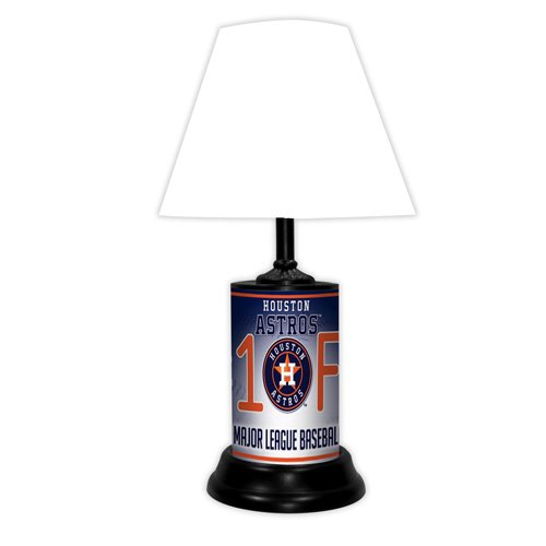 Houston Astros MLB Baseball #1 Fan Team Logo License Plate made Desk Lamp with shade by GTEI