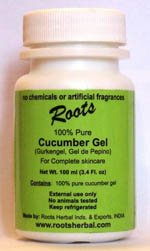 (100% Pure Cucumber Gel - Natural Gel Without Chemicals, Without Additives)