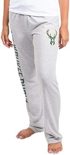 Ultra Game NBA Women's Sleepwear Super Soft Hacci Pajama Loungewear Pants