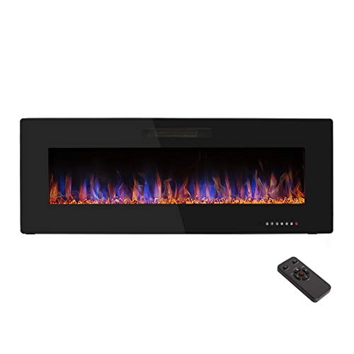 """R.W.FLAME 50"""" Electric Fireplace, Recessed Wall Mounted and"""
