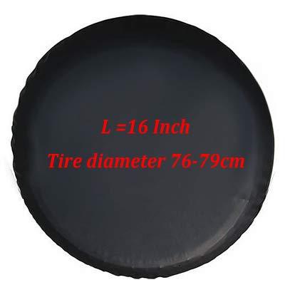 Qiyun Copriruota 0,7mm PVC di scorta per auto nero per pneumatici Jeep Kia SUV, 16 pollici