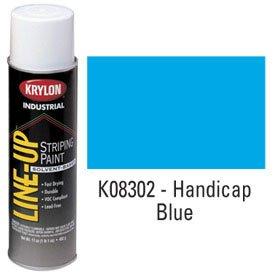 KRYLON K08302 Krylon Industrial Line-Up Sb Pavement Striping Paint Handicap Blue - Lot of 12