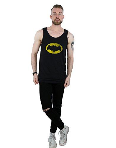 Man Tank Distressed Tv Negro Batman Top Logo Dc Comics 56qHxg